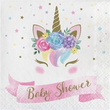 Unicorn Baby Shower Luncheon Napkins