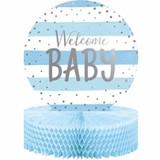 Blue/Silver Celebration Baby Shower Centerpiece