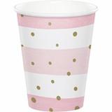 Pink/Gold Celebration Baby Shower Cups - 9oz