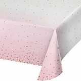 Pink/Gold Celebration Baby Shower Paper Tablecloth