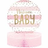 Pink/Gold Celebration Baby Shower Centerpiece
