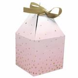 Pink/Gold Celebration Baby Shower Favor Boxes