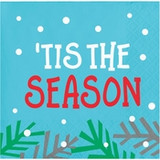 "Holiday Whimsy ""Tis the Season"" Beverage Napkins"