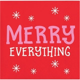 """Holiday Whimsy """"Merry Everything"""" Beverage Napkins"""