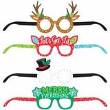 Christmas Paper Eyeglasses