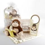 """""""Five Little Monkeys"""" 5-Piece Gift Set in Keepsake Basket"""