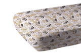 """Animal Print Bamboo Muslin Crib Sheet This soft breathable and comfy crib sheet stays cool in the summer and warm in the winter and gets softer with every wash. Tailored to fit snugly on standard crib mattresses. Sweet dreams for all.  Size: 28"""" x 52"""" (71cm x 132cm)  Material: 100% Natural Bamboo Muslin"""