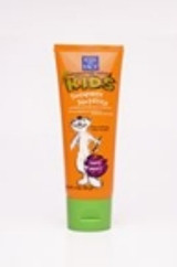 Your kids will actually brush with this great tasting toothpaste that leaves their teeth clean and healthy and is:  vegan & cruelty free made with tea tree oil & aloe vera, some of Mother Nature's ingredients for a healthy mouth. berry flavored and tastes great!  Ingredients:   Active Ingredients: Sodium Monofluorophosphate 0.76% Other Ingredients: Water, Glycerin, Hydrated Silica, Xylitol, Vaccinium Macrocarpon (Cranberry) Fruit Powder, Zinc Citrate, Aloe Barbadensis Leaf Extract, Melaleuca Alternifolia (Tea Tree) Leaf Oil, Natural Flavor, Stevia Rebaudiana Extract, Cellulose Gum, Sorbic Acid Fluoride Berry Smart Toothpaste - 4oz