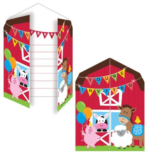 Farmhouse Fun Party Invitations