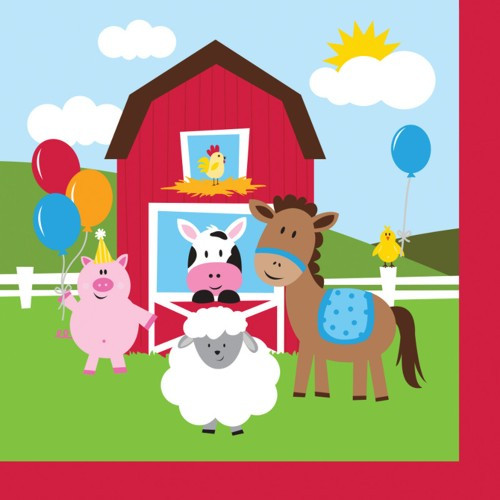 Farmhouse Fun 2-Ply Luncheon Napkin