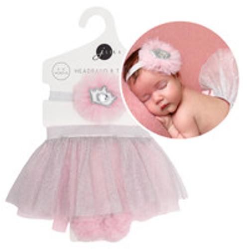 Pink Tutu Skirt and Headband Set