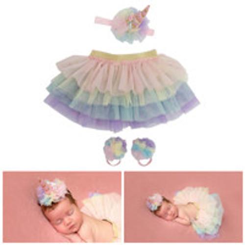 Unicorn Newborn Baby Girl Tutu Set