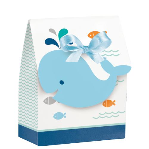 Lil Spout Blue Whale Shower Mini Favor Bags W/Ribbon