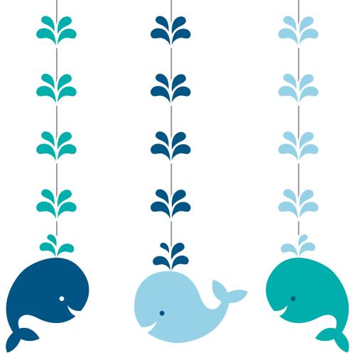Lil Spout Blue Whale 36 inch Hanging Cutouts