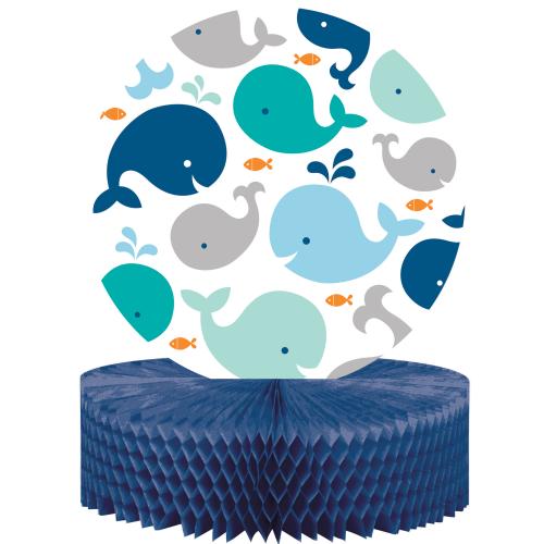 Lil Spout Blue Whale Honeycomb Centerpiece