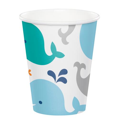 Lil Spout Blue Whale Paper Hot/Cold Cups - 9oz