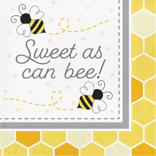 "Bumblebee Baby Shower ""Sweet As Can Be"" Luncheon Napkins"