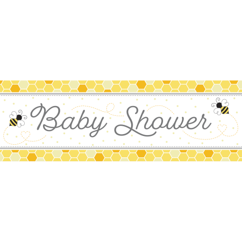 Bumblebee Baby Shower Giant Party Banner