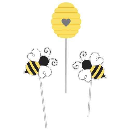 Bumblebee Baby Shower Centerpiece Sticks (3 ct)