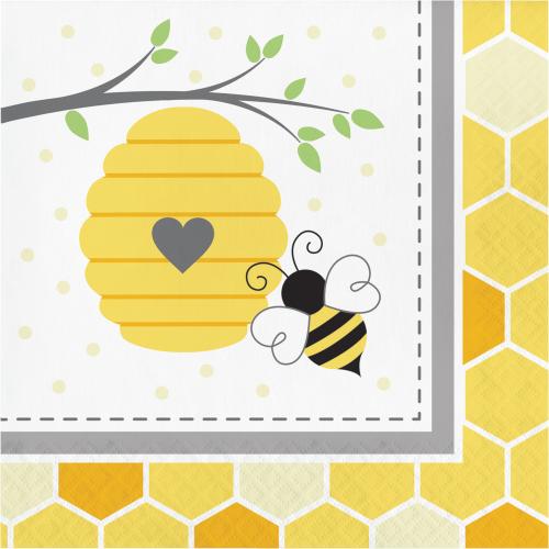 Bumblebee Baby Shower Luncheon Napkins