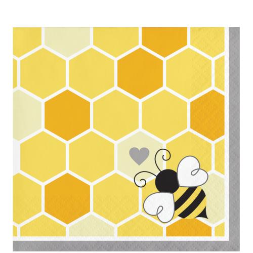 Bumblebee Baby Shower Beverage Napkins