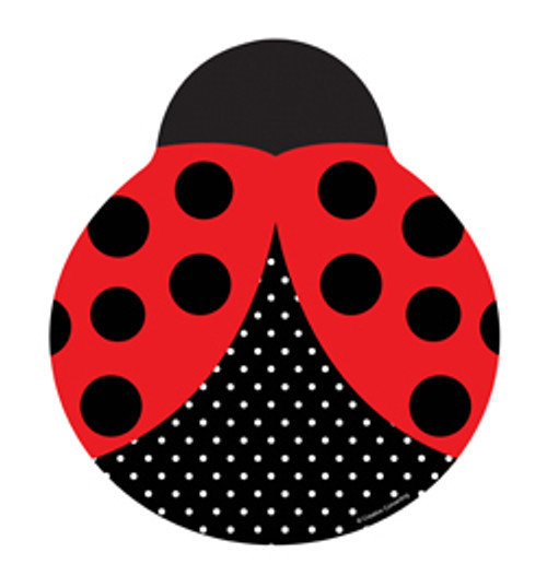 Ladybug Fancy Shaped Lunch/Dinner Plate - 8.75""