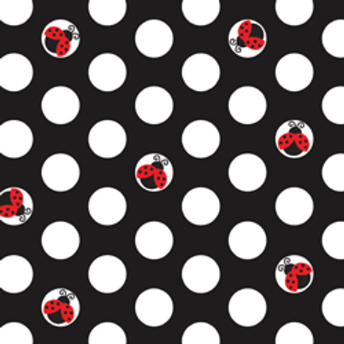 Ladybug Fancy 3-Ply Beverage Napkins