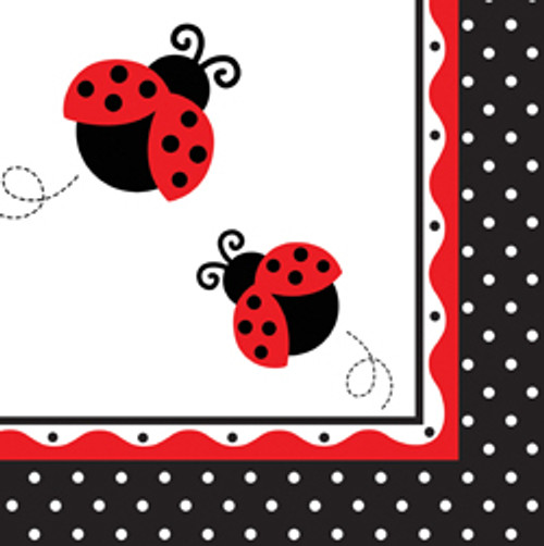 Ladybug Fancy 3-Ply Luncheon Napkins