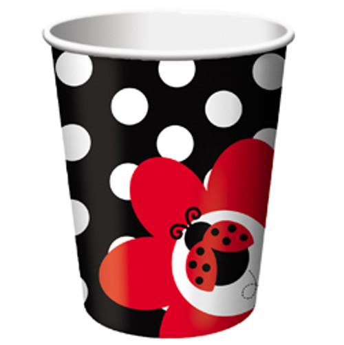 Ladybug Fancy Paper Hot/Cold Cups - 9oz