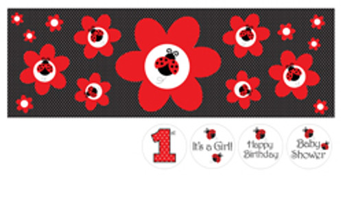 Ladybug Fancy Giant Party Banner W/Stickers