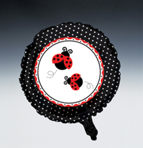 Ladybug Fancy Metallic Mylar Balloon