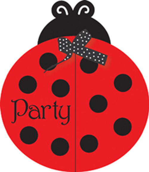 Ladybug Fancy Party Invitations