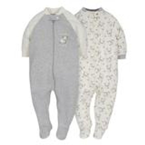2-Pack Organic Neutral Grey Lamb Sleep N' Plays