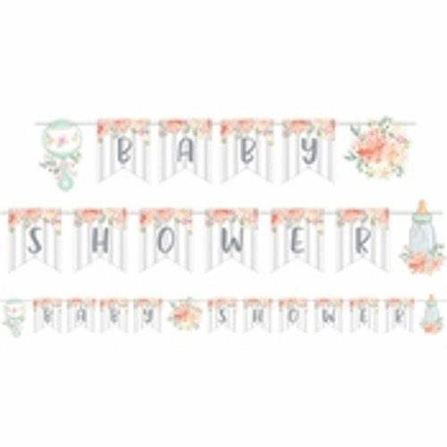 Country Floral Baby Shower Banner