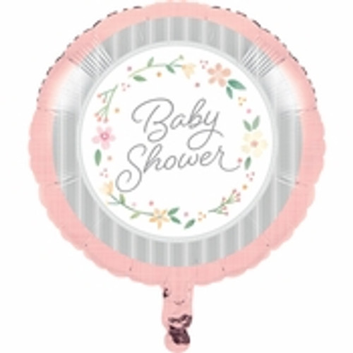 Country Floral Baby Shower Mylar Balloon