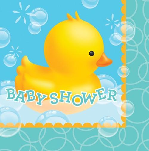Bubble Bath Baby Shower Luncheon Napkins
