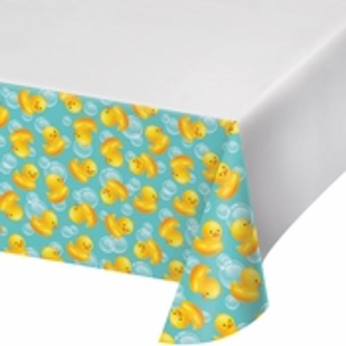 Bubble Bath Plastic Tablecloth