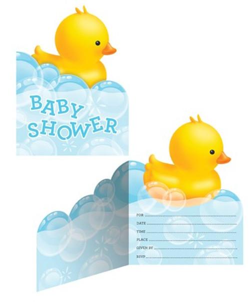 Rubber Duck Bubble Bath Invitations