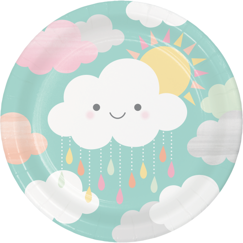 Clouds Baby Shower Dinner Plates - 9""