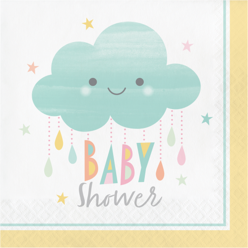 "Clouds Baby Shower ""Baby Shower"" Luncheon Napkins"