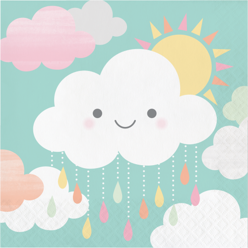 Clouds Baby Shower Luncheon Napkins