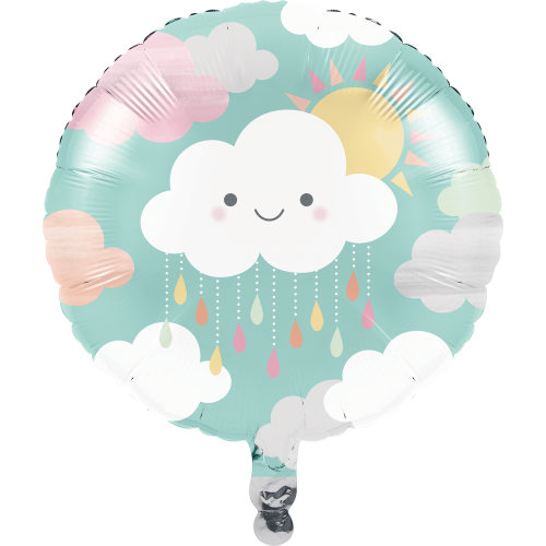 Clouds Baby Shower Mylar Balloon