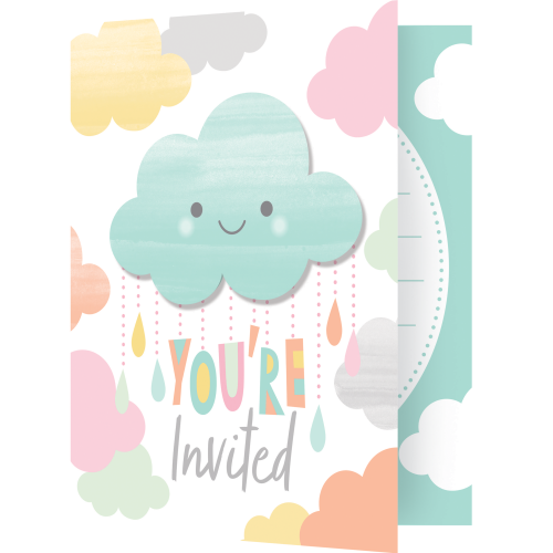Clouds Baby Shower Invitations