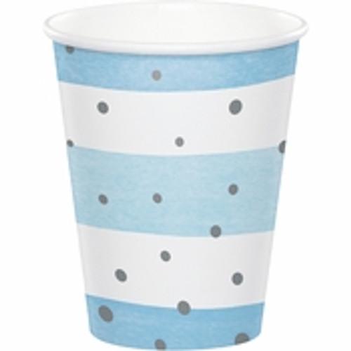 Blue\Silver Celebration Cups - 9oz