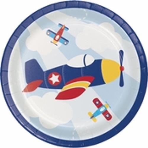 """Toy Airplane Dessert Plates - 7"""""""