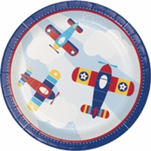 Toy Airplane Dinner Plates - 9""