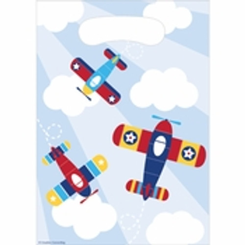 Toy Airplane Favor Bags