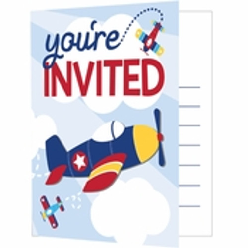 Toy Airplane Invitations
