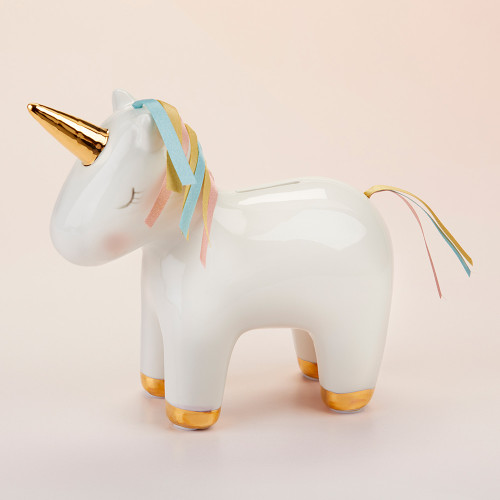 Unicorn Porcelain Bank