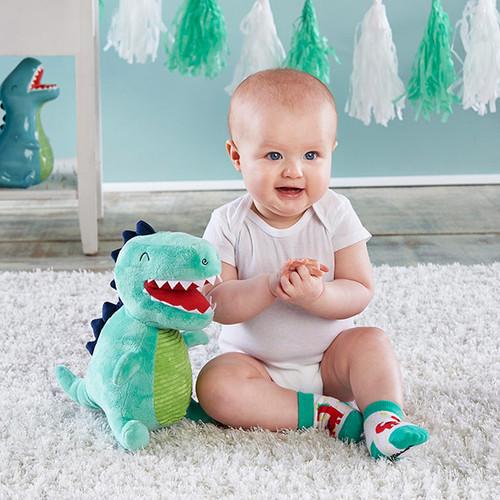 Doug the Dinosaur Plush Plus Socks for Baby